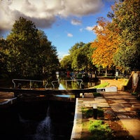 Photo taken at Old Ford Lock (Regent's Canal) by jmm on 10/23/2013