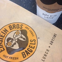 Photo taken at Einstein Bros. Bagel by Lesley E. on 10/28/2015