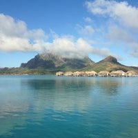 Photo taken at Otemanu View Over-water Bungalow by Gina B. on 8/4/2013