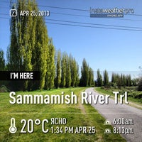 Photo taken at Sammamish River Trail by Jane P. on 4/25/2013