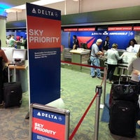 Photo taken at Delta Air Lines Ticket Counter by Andrew D. on 5/1/2014