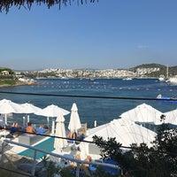 Photo taken at Doria Beach by Birgül Ş. on 7/18/2017