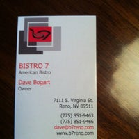 Photo taken at Bistro 7 by Len P. on 10/14/2013