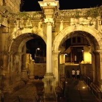 Photo taken at Hadrian's Gate by Aydin C. on 6/30/2013