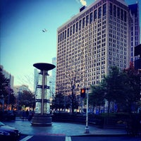 Photo taken at Campus Martius by Jay D. on 10/21/2012