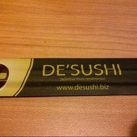 Photo taken at DE'SUSHI by Lieee ♡. on 7/19/2013