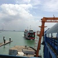 Photo taken at Penang Ferry Terminal (Pangkalan Raja Tun Uda) by Kelly N. on 2/15/2013