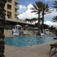 Photo taken at Poolside@ Miami Mariott by Colleen G. on 2/8/2013