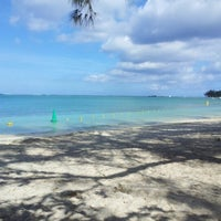 Photo taken at Mont Choisy Beach by Nead on 11/5/2012