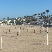 Photo taken at Huntington Beach Beach Volleyball Courts by Stacey~Marie on 7/13/2014