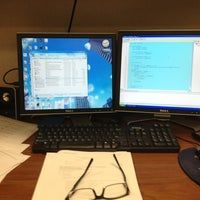 Photo taken at Mike's New Messy Desk by Michael H. on 7/25/2013