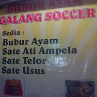 Photo taken at Bubur Ayam Galang Soccer Tanser by @ATHO_TRIP S. on 4/8/2013