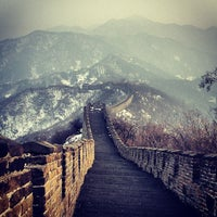 Photo taken at Great Wall at Mutianyu by Olly S. on 3/21/2013