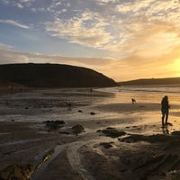 Photo taken at Daymer Bay by Olly S. on 12/24/2016
