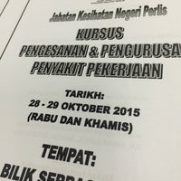 Photo taken at Jabatan Kesihatan Negeri Perlis by muhammad q. on 10/29/2015