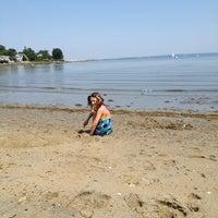 Photo taken at Wickford Town Beach by Karen D. on 8/21/2013