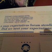 Foto tirada no(a) Oceano Copacabana Hotel por Patrícia F. em 4/25/2013