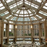 Photo taken at Prudential Center Courtyard & Garden by Hessah on 10/6/2013