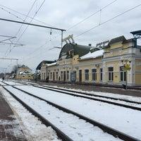 Photo taken at Бобруйск Пассажирский / Bobruysk Railway Station by Artiom A. on 1/29/2015