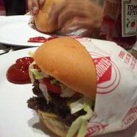 Photo taken at Fat Burger by Sara on 4/12/2013