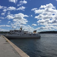Photo taken at Ångbåtsbryggan Vaxholm by M H. on 7/13/2017