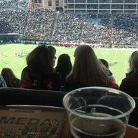 Photo taken at Folsom Stadium Club Level - UCB by Josh F. on 11/23/2012