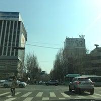 Photo taken at 공평네거리 by Georgeanna H. on 3/28/2016