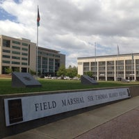 Photo taken at Field Marshal Sir Thomas Blamey Square by Fro H. on 1/22/2014