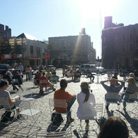 Photo taken at Gansevoort Plaza by Jerry C. on 5/12/2013
