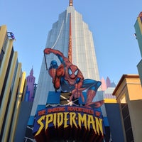 Photo taken at The Amazing Adventures of Spider-Man by Brent H. on 2/16/2013