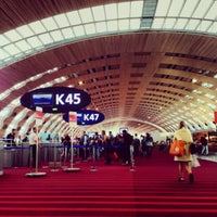 Photo taken at Paris Charles de Gaulle Airport (CDG) by Matt V. on 10/1/2013
