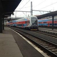 Photo taken at Prague Masaryk Railway Station by Steven L. on 10/1/2012