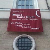 Photo taken at Museo Carlo Bilotti - Aranciera di Villa Borghese by Luca P. on 1/11/2014