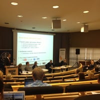 Photo taken at SSE Riga | Stockholm School of Economics by Māris J. on 9/27/2012