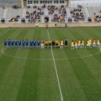 Photo taken at Dick Dlesk Soccer Stadium by Ben E. on 10/7/2012