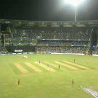 Photo taken at Wankhede Stadium by Mayur K. on 4/28/2013