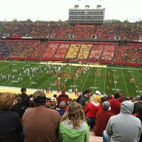 Photo taken at Jack Trice Stadium by Katie R. on 10/13/2012