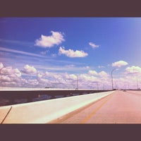 Photo taken at Howard Frankland Bridge by 🌜Jesy P. on 9/15/2012