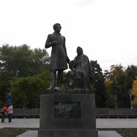 Photo taken at Памятник «Пушкин и крестьянка» by Vitaly S. on 9/30/2017