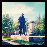 Photo taken at Памятник Л.Н. Толстому by Valery U. on 5/10/2013