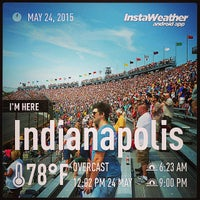 Photo taken at Indianapolis Motor Speedway Lot 4 by Francisco P. on 5/24/2015