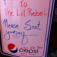 Photo taken at Lil' Rebel by William S. on 5/8/2013