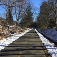 Photo taken at Minuteman Commuter Bikeway by Terence C. on 1/2/2016
