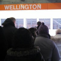 Photo taken at MBTA Wellington Station by Heidi W. on 2/11/2013
