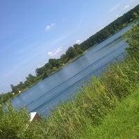 Photo taken at Ozolnieku ezers (Ozolnieki Lake) by Iveta K. on 7/27/2016