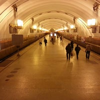 Photo taken at metro Ligovsky Prospekt by Alex S. on 3/18/2013