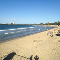 Photo taken at Mooloolaba Beach by Andrew W. on 4/24/2013