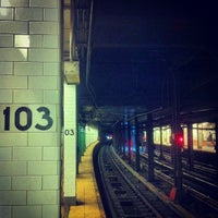 Photo taken at MTA Subway - 103rd St (1) by Jessica L. J. on 5/21/2013