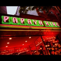 Photo taken at Papaya King by Jessica L. J. on 5/19/2013