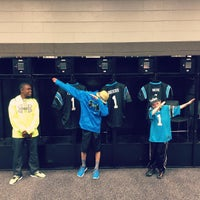 Photo taken at Carolina Panthers Team Store by Andrew G. on 3/31/2016
